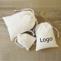 Pure Cotton Drawstring Bag Jewelry Packaging Necklace Makeup...