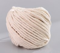 2020 Handmade Decorations Natural Cotton Bohemia Macrame DIY Wall Hanging Plant Hanger Craft Making Knitting Cord Rope Beige 5mm