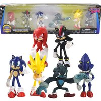 5 cm - 7,5 cm de Sonic The Hedgehog figuras de acción de juguete 20th Anniversary Collection Figurita Cake Topping regalo de cumpleaños