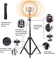 10inch 160CM Ring light with stand phone holder tripod for L...
