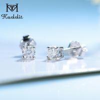 Kuololit 100% Moissanite Edelstein-Bolzen-Ohrringe für Frauen Körper-925 D Farbe Solitaire Fine Jewelry der neuen Ankunfts-200921