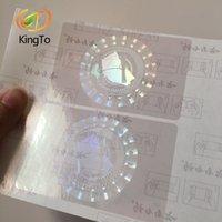 logotipo personalizado holograma etiqueta engomada transparente superpuesta holograma brillante etiqueta de seguridad láser anti-falsificación