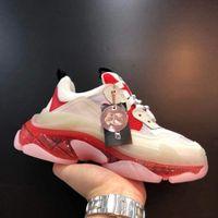 Rojo Claro Sole Triple Triple S de diseño de gran tamaño zapatilla de deporte de las zapatillas de deporte de la vendimia de 2020 zapatos de descuento al aire libre Hombres Mujeres Alpargatas para Navidad