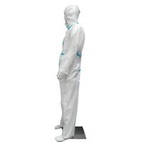 PP + PE Yeni Tek Parça Yetişkin Koruyucu Giysi Mavi Ve Beyaz Stripes Yüksek Antibakteriyel Yüksek Kaliteli Anti-statik Karşıtı Kirlilik