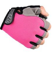 Anti-Rutsch-Stoß-Radfahren Fahrradhandschuhe atmungsaktiv halb Finger kurze Sporthandschuh Zubehör für Männer Frauen