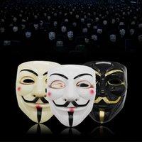 Быстрая доставка Halloween Horror Theme V Вендетта маска V Монстр V-лицо маскарад маски Halloween Birthday Party Mask F2402