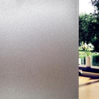 Mattglas-Aufkleber-Fenster-Film Datenschutz für Büro Badezimmer-Schlafzimmer-Geschäfts Static Cling DIY Decorative Film Kein Kleber