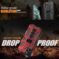 Telefone celular casos tampa traseira Kickstand Suporte Anti-queda Series Armadura militar Mobile Phone Proteção Case for iPhone 12 New 11Pro Max XS XR