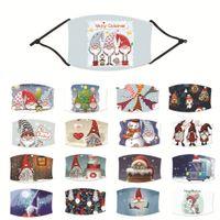 2020 Взрослый и Ребенок Санта-Клаус Cap Снеговик Мультфильм Регулируемая маска, фильтр может быть установлен