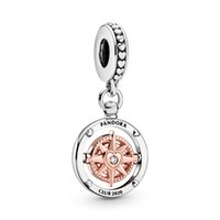 Authentic ALE 925 Sterling Silver 2020 New Club Compass Dang...