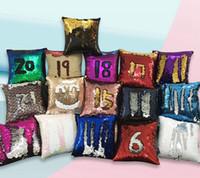 Sirena gettare caso della cassa del cuscino magico reversibile paillettes copertura di scintillio sofà 40 * 40cm federe 33 STILI LJJK2452