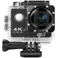 "Spor Aksiyon Video Kameralar H9 Ultra HD 4 K Kamera 1080 P / 60 FPS WIFI 2.0 ""170D GO Su Geçirmez Pro Spor Kayıt Kamera Mini Kask Cam"