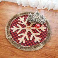 Arbre de Noël Jupe Arbre rouge à carreaux flocon de neige Jupes Fenêtre Nouvel An Noël Décor Festival de cadeaux Fournitures HHA1508