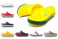 Sıcak satış-Yaz Sandal Serin Tasarımcı Crocse Kadınlar Erkekler Havuz Sandalet Açık Cholas Beach Ayakkabı Bahçe Rahat su Duş Crock Sand Slip On