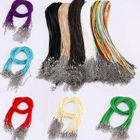 10pcs / Set multicolor PU Cera de piel Tema cadena collar de la pulsera extensor de alambre con cierre de langosta joyería de bricolaje barato