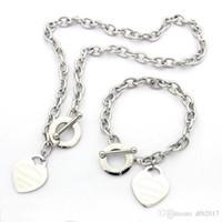 Jewelry Designer AMORE GRANDE braccialetto cuore in argento collana 18K T Collana in oro rosa con Platinum Luxury regalo di natale della donna 3 colori