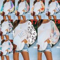 S-3XL Pull Chemisier Pull Designer femmes couleur d'automne Tie-dye Sweats à capuche T-shirt à manches longues d'hiver Patchwork T Shirts D81104
