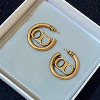 Tienen pendientes de aro de la moda carta de cupones aretes orecchini para el compromiso de la joyería amantes de la boda las mujeres del partido del regalo con la caja