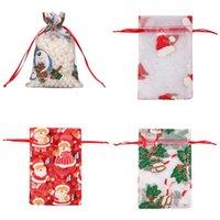 Frohe Weihnacht-Geschenk-Beutel des Containers Cap Bell-Shrink Verbandsmull Organizer Zugseil Aufbewahrungstasche Süßigkeit Snacks 0 7RH C2