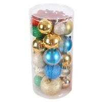 Christmas Ornaments Shiny matte threaded Plastic Ball Christ...