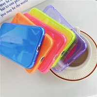 Симпатичные Флуоресцентные цвета чехол для телефона iphone 11 Pro Max 7 8 плюс X XR XS Max SCover Мода Candy Color Clear Soft Назад