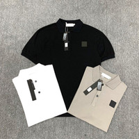 2020 Herren-Polohemd Retro-Marke, klassische T-Shirt Männer T-Shirt Stickerei kurze Ärmel Sommer Revers Volltonfarbe Brust Buchstabedekoration-Tops