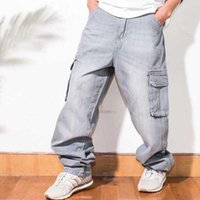 HipHop Harem Jeans lose Baggy Overalls Men Casual Denim Cargo Pants Gerade Wide Leg Hose Street Fashion Kleidung