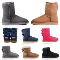 Vendita calda di scarpe da donna in pelle pelliccia stivali firmati, tenere al caldo moda stivaletti invernali neve stivaletti all'ingrosso stivali d'epoca