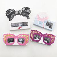 소프트 종이 Eylashes 상자 여자 안경 25mm 속눈썹 사용자 정의 로고 귀여운 밍크 래쉬 포장 FDshine을 수락