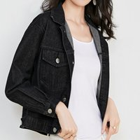 Jacket Women Black Denim Jacket Spring Autumn Jeans Coat Casual Harajuku Streetwear Female Vintage Jeans Coat Students