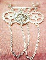 Мода Vintage Silver Charm компас и трансмиссионные броши для женщин кисточкой Брошь Pin Boho куртка платье пальто мешок ювелирных изделий Brithday Фестиваль подарков