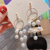 Joyería de las mujeres del diseñador de belleza con Silber chapado en pendientes de diamantes de 10 pares 925 pendientes de plata de ley pendientes largos
