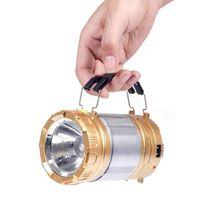 Портативные фонарики LED аккумуляторные солнечные фонарики Открытый кемпинг Свет USB Power Bank Высокое качество