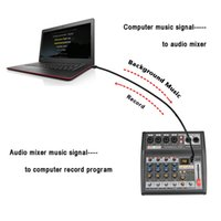 Freeshipping AT-04M Portable DC 5V Netzteil Bluetooth USB-Schnittstelle 4 Kanal 16 Effekt PC Record Soundkarten-Audiomischer-Konsole