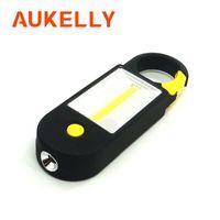 Aukelly COB LED Çalışma Işık 2 Modları Taşınabilir Acil Muayene Projektör Handy Fener Kamp Lambası ile Mıknatıs Kanca