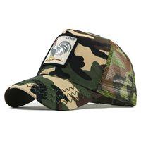 جديد قبعة بيسبول الحيوان التطريز أنيمي لطيف التطريز الصيف شبكة الرجال السيدة في الهواء الطلق شاحنة شاحنة القبعات