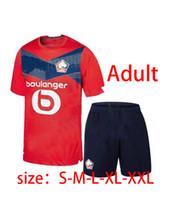 Kit LOSC Lille Nueva camiseta de fútbol REMY FONTE BAMBA YAZICI maillot de pie 20 21 Maillot losc maillots de la camisa del fútbol de los hombres de los niños
