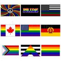 Banderas 3x5fts Filadelfia Phily recto del aliado Progreso LGBT gay del arco iris de la bandera americana del orgullo de la bandera 90x150cm 9styles RRA3462