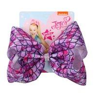 8inch Jojo Siwa Arcos Hairpin Mermaid Escalas Designers arcos de cabelo grampo grampos Barrette Mulheres Meninas de cabelo com cartão Acessórios mantilha D82708