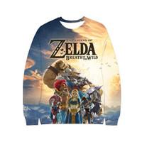 Gioco The Legend of Zelda Majora Anime link 3D con cappuccio delle donne degli uomini Felpa girocollo oversize Pullover Top costume cosplay