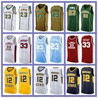NCAA LEBRON 23 JAMES Bryant Jersey Michael 12 JA Morant Dwyane 3 Wade Kyrie Trae Irving Young Kawhi Jarrett Leonard Culver Basketball