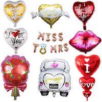 Labbra Wedding Heart Balloons Foil elio Balloon Amore Anniversario Palloncino per i rifornimenti Giorno evento della festa di compleanno decorazione di San Valentino