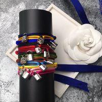 Braccialetto della coppia di modo Braccialetto classico Braccialetto del braccialetto del braccialetto della corda della corda della tendenza della corda della tendenza della corda dell'acciaio inossidabile