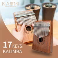NAOMI Başparmak Piyano Kalimba 17 ton Parmak Piyano Acemi Giriş Taşınabilir Enstrüman Kalimba Ahşap Renk