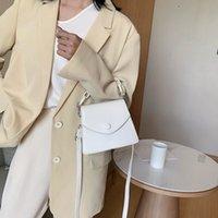 Dihope Новые плеча Дамы сумки Толстые цепи Креста тела сумка Сплошной цвет Малые Кожа PU Crossbody сумки для женщин 2020 SWild