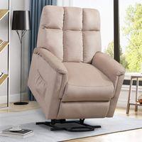 Oris-Fell. Power Lift Stuhl Weiche Stoff Recliner Lounge Wohnzimmer Sofa mit Fernbedienung PP038656EAA