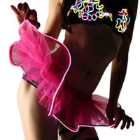 Cartoon .7 Colors LED Adult Dance Performance Skirt Flashing Sparkling Tutu Skirts Solid Color Fancy Costume Light Mini Tutu
