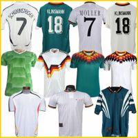 Чемпионат мира 1990 1992 1994 1998 1988 Германия ретро Littbarski Баллак футбол Джерси Клинсманн Маттиас дома рубашку Kalkbrenner JERSEY 1996 2004