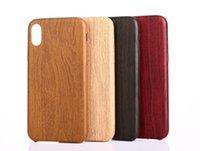 Luxo Phone Cases grão de madeira retro macia PU Voltar tampa do iPhone para 11 pro Max xr x / xs max 7/8 6 / 6s mais madeira Padrão de Proteção Shell pele