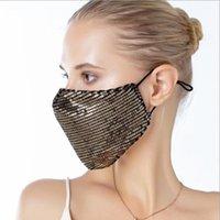 Pailletten Baumwolle Maske Mode Abenddämmerung Reusability Gewaschene Masken Erwachsene Dame Summer verhindern, dass Staub Baumwolle Maske WY778Q